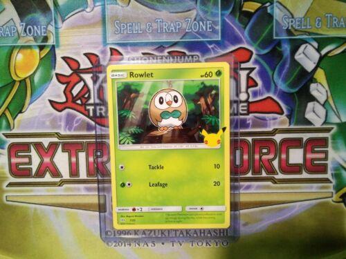 Pokemon: Rowlet 7/25 - Non Holo - Mcdonald's Promo 25th Anniversary - *M-NM