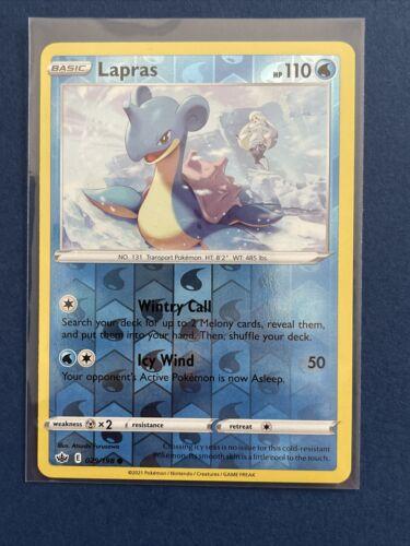 Pokemon TCG Lapras Reverse Holo NM/ Chilling Reign 029/198 - Image 1