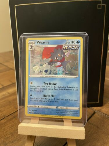Stage 1 Weavile 031/198 - Holo Rare - 2021 Chilling Reign Sword & Shield - Mint