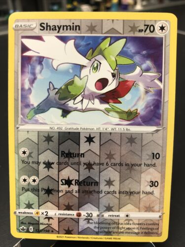 Shaymin 123/198 Chilling Reign Pokemon Reverse Holo Rare NM/M