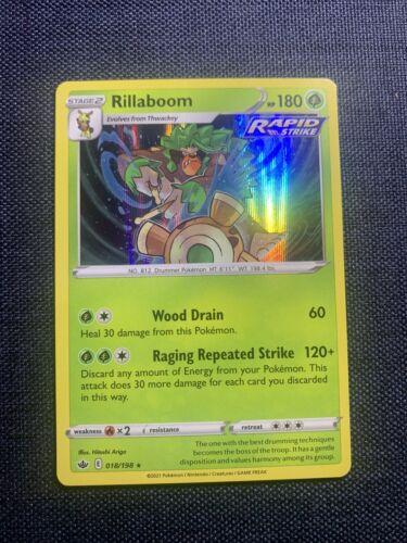 Pokemon Rillaboom 018/198 Chilling Reign - Holo - NM