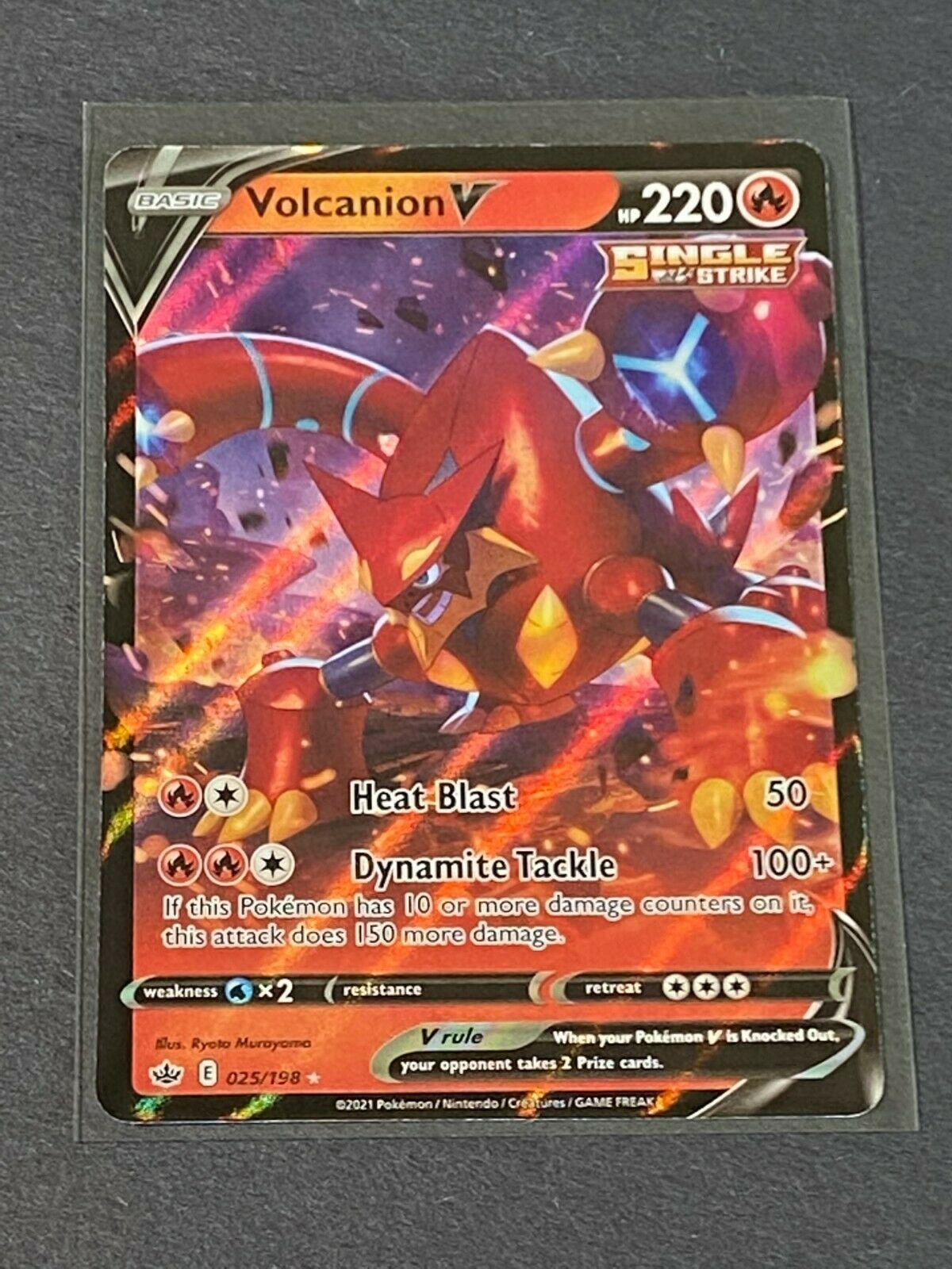 Volcanion V 025/198 Ultra Rare Chilling Reign POKEMON TCG