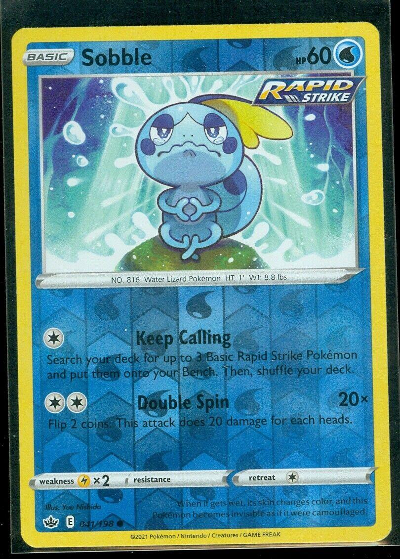 Pokemon SOBBLE 041/198 Chilling Reign - Rev Holo - - MINT