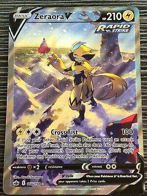 Pokemon : SWSH CHILLING REIGN ZERAORA V 166/198 FULL ART