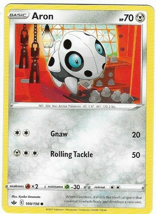 Aron- Pokemon Card (109/198) Chilling Reign