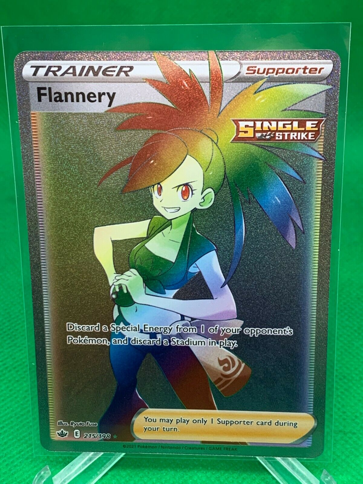 Pokemon - Flannery - Chilling Reign - 215/198 - Rainbow Rare - NM