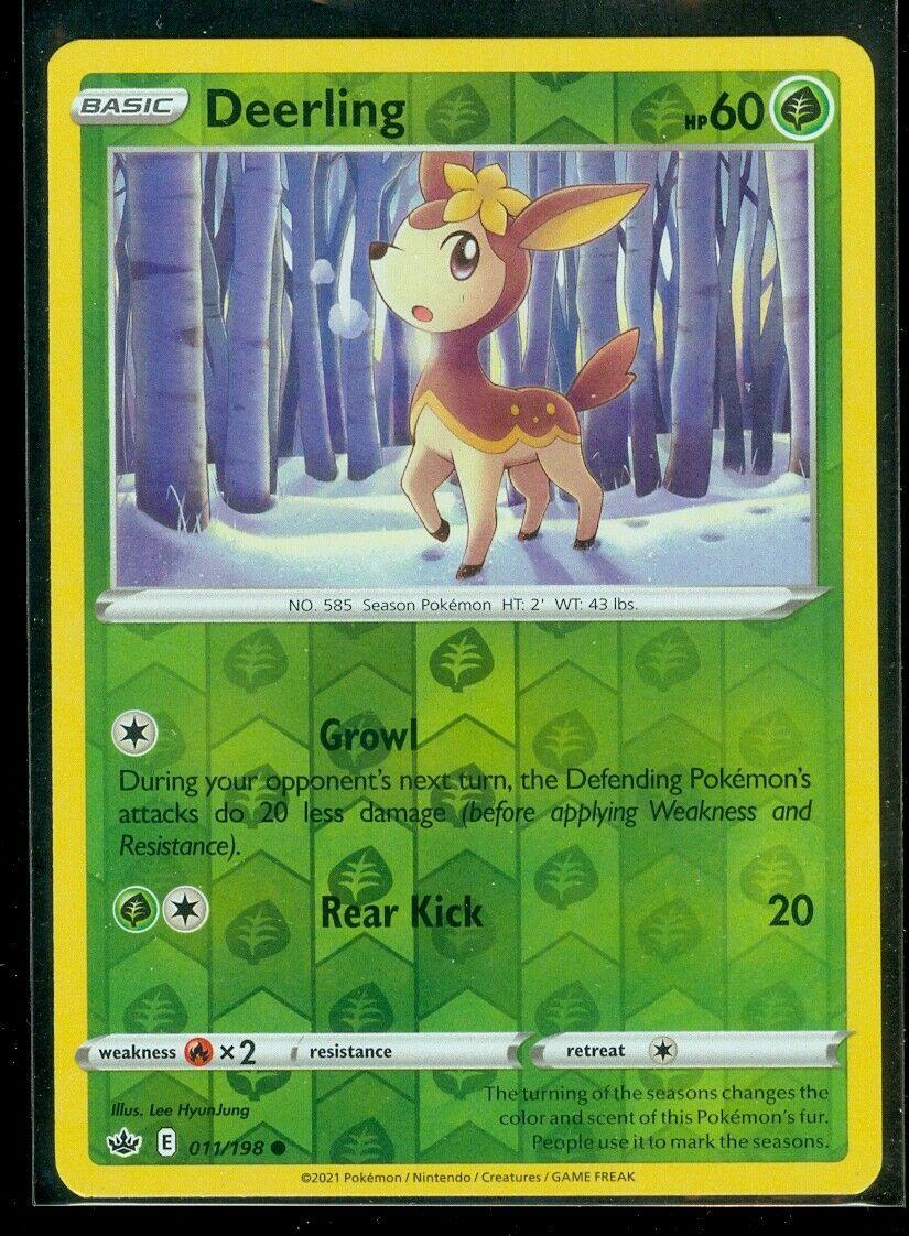 Pokemon DEERLING 011/198 Chilling Reign - Rev Holo - - MINT