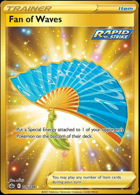 Fan of Waves Secret Rare 226/198 NM|M- Chilling Reign Pokemon