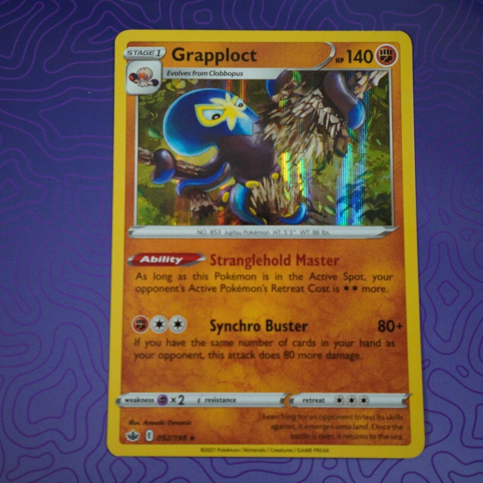Grapploct 092/198 Holo Rare Pokemon  Chilling Reign NM