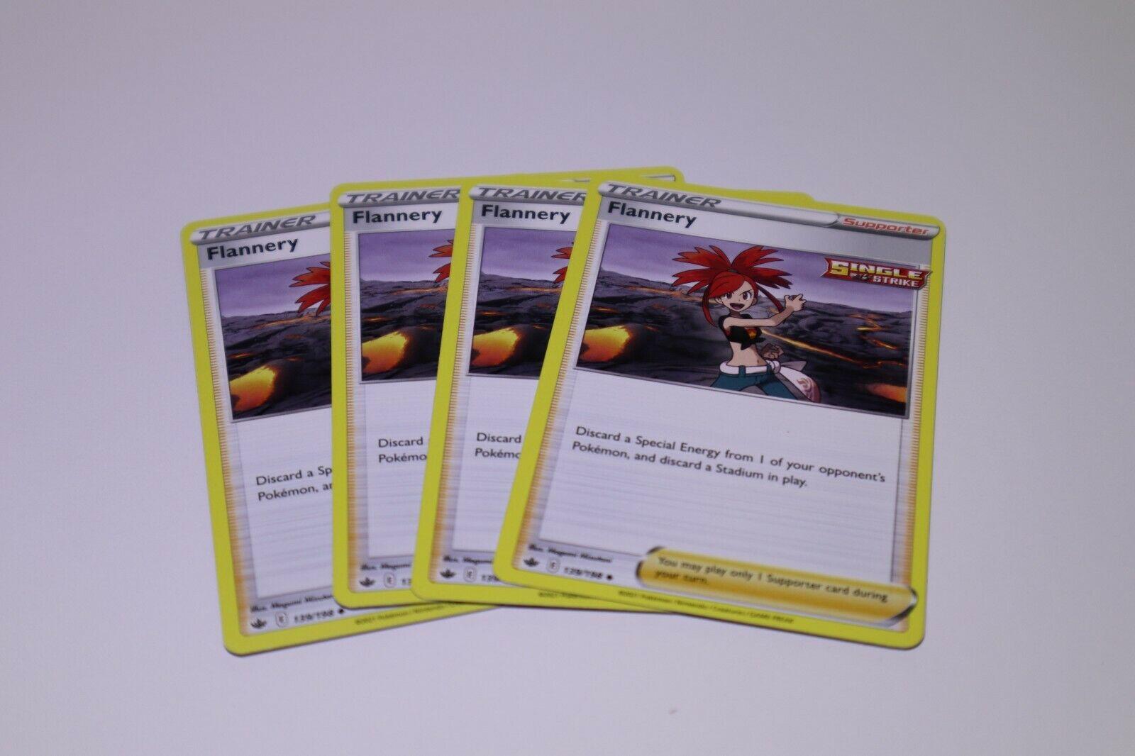 x4 Flannery 139/198 Non Holo Trainer Rare Pokemon Chilling Reign NM/M