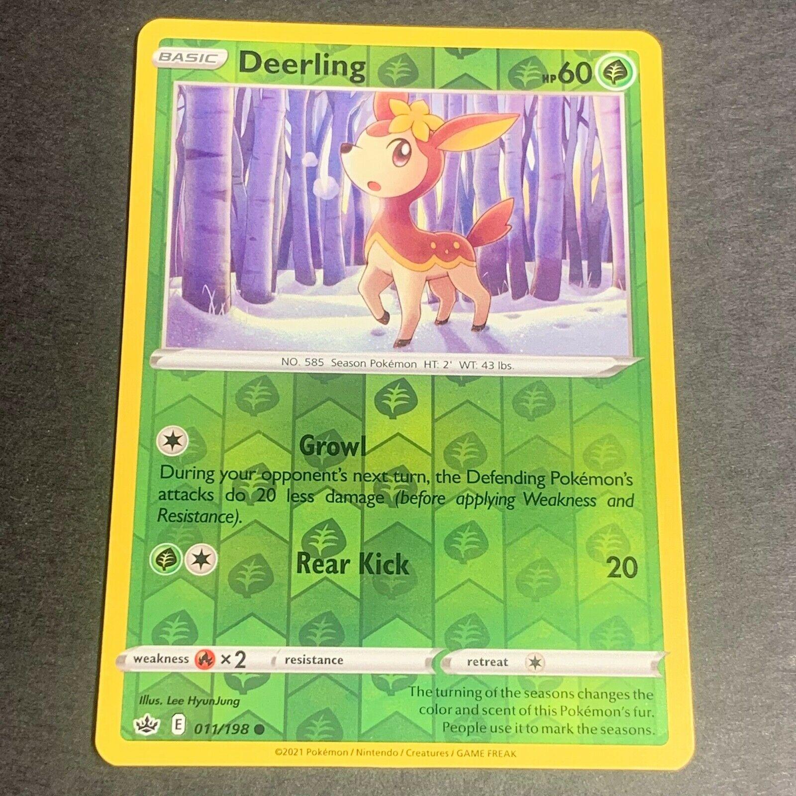 Pokemon S&S Chilling Reign REVERSE HOLO (C.) Deerling 011/198 - Near Mint (NM)