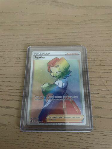 Pokemon Agatha 210/198 Secret Rainbow Rare Chilling Reign