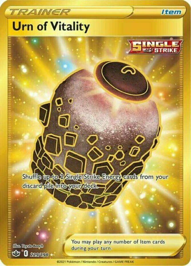 Pokemon - Urn of Vitality - 229/198 - Secret Rare - Chilling Reign  - NM/M