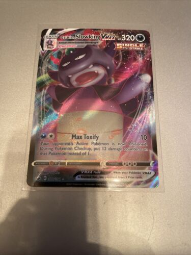 Galarian Slowking VMAX - 100/198 Holo Pokemon Card Chilling Reign NM