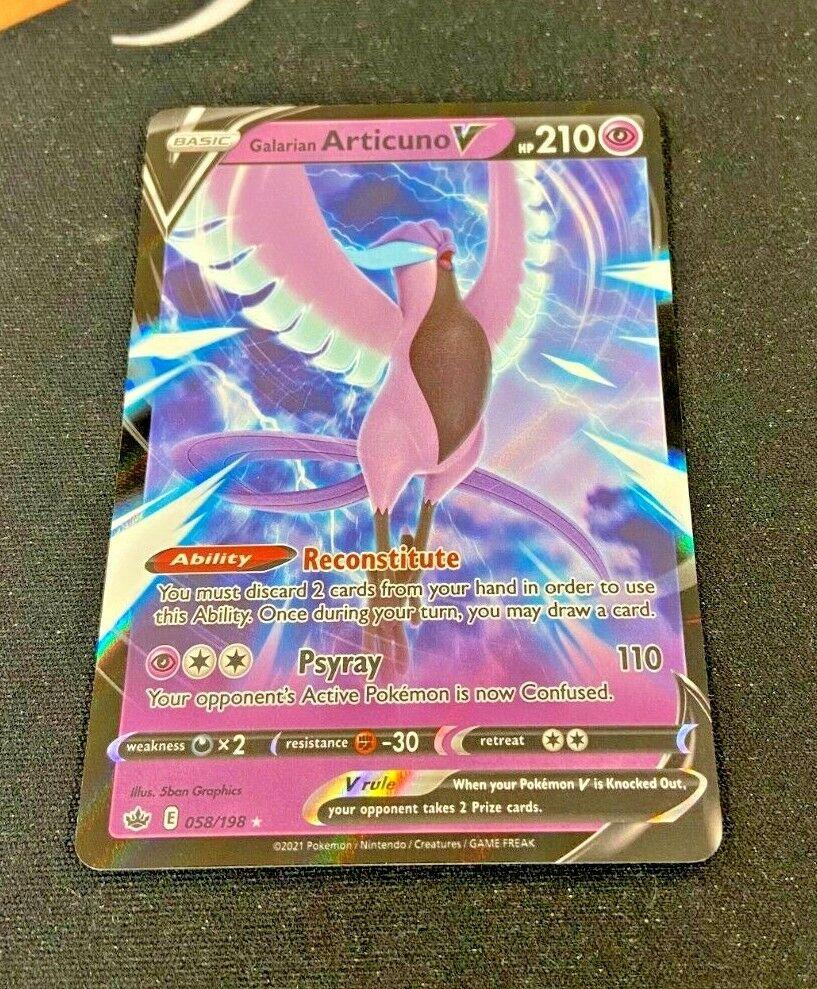 Galarian Articuno V - 058/198 Chilling Reign (Pokemon) Half Art Ultra Rare