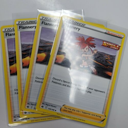 4X Flannery 139/198 Trainer Chilling Reign Pokemon Cards Non Holo