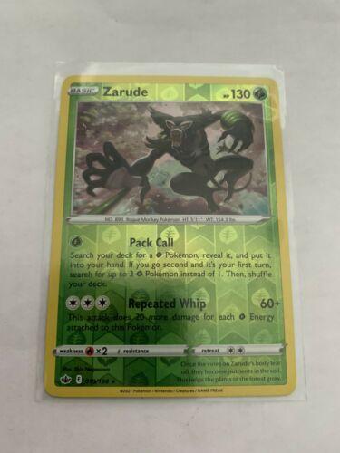 Pokemon Card Chilling Reign Zarude - 019/198 - Rare Reverse Holo NM/ M