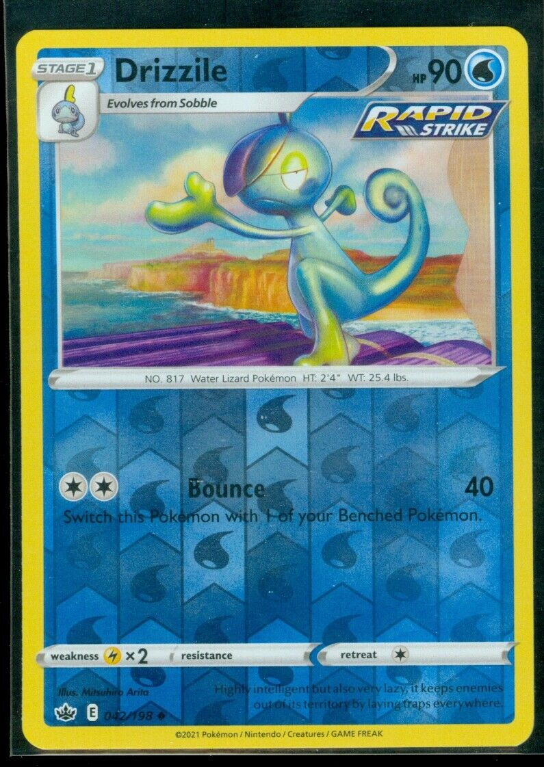 Pokemon DRIZZILE 042/198 Chilling Reign - Rev Holo - - MINT
