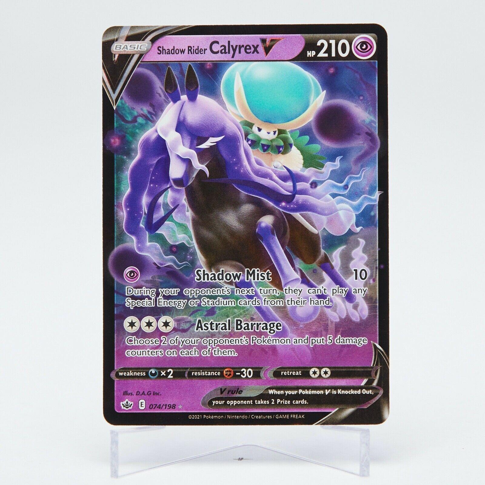 Shadow Rider Calyrex V 074/198 Chilling Reign Ultra Rare M/NM