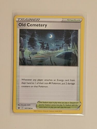 x4 Old Cemetery 147/198 Uncommon Pokemon Chilling Reign Playset - NM/M 4x