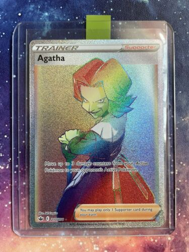 Agatha 210/198 Rainbow Secret Rare-Pokémon Chilling Reign-MINT