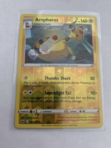 Pokemon Card Chilling Reign Ampharos - 049/198 - Rare Reverse Holo NM/ Mint