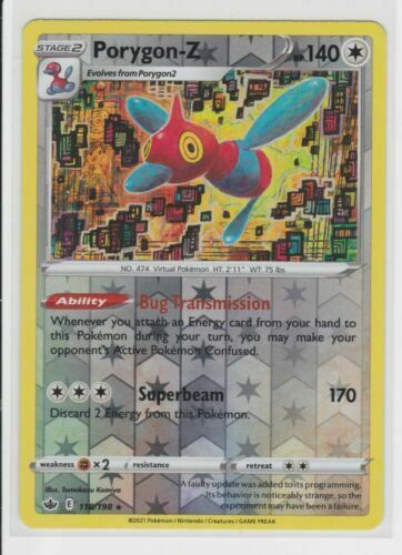 Porygon-z 118/198 Reverse Holo   NM   Chilling Reign