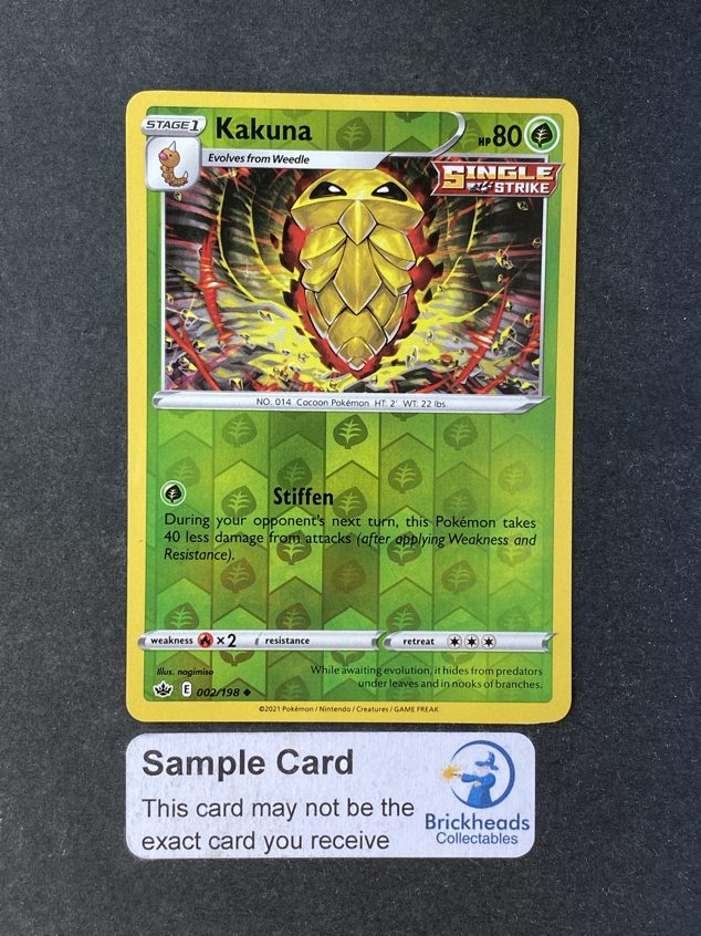 Kakuna 002/198 Reverse Holo | SWSH: Chilling Reign | Pokemon Card