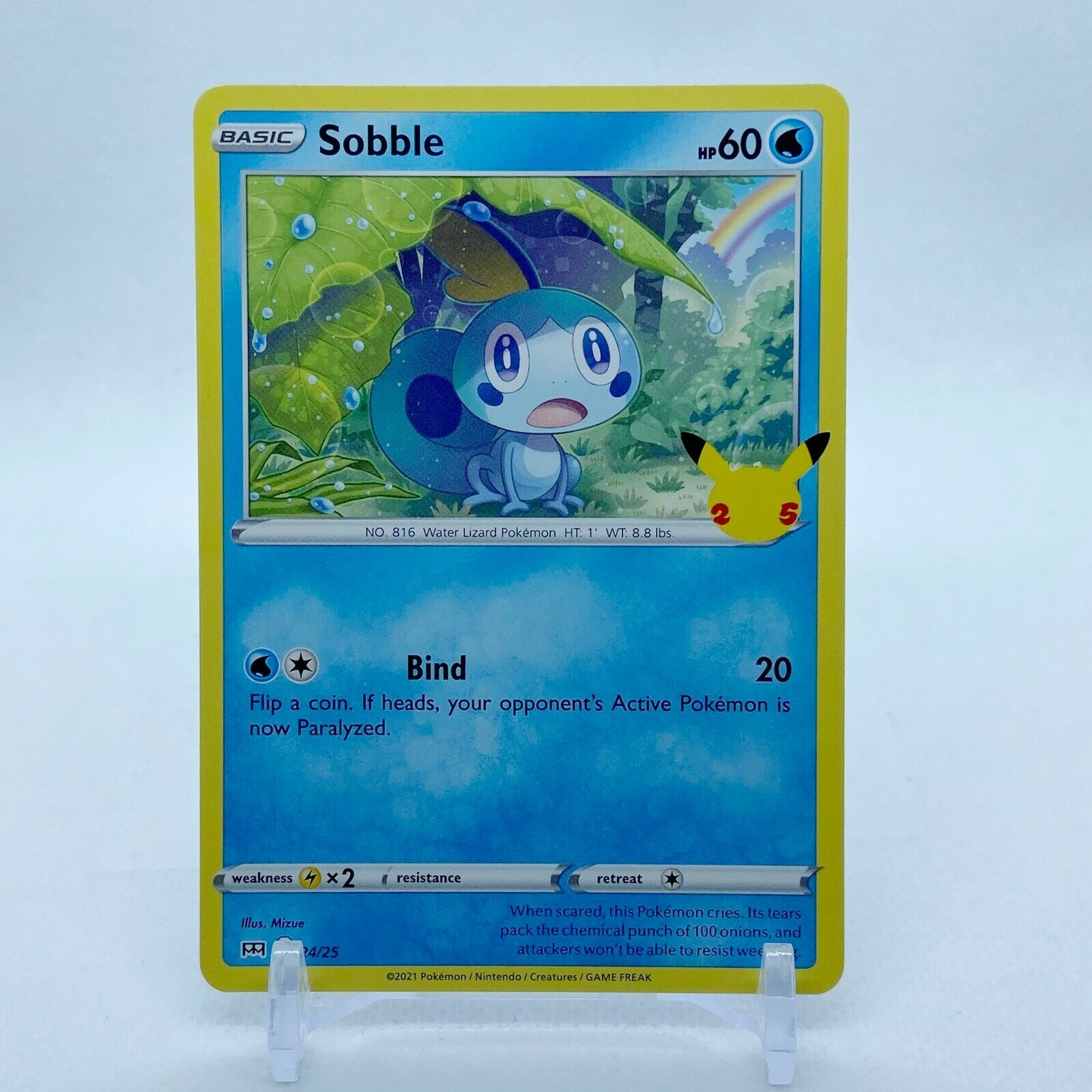 Sobble - 24/25 Mcdonald's Promo 25th Anniversary Starter Pokemon - NM/MINT