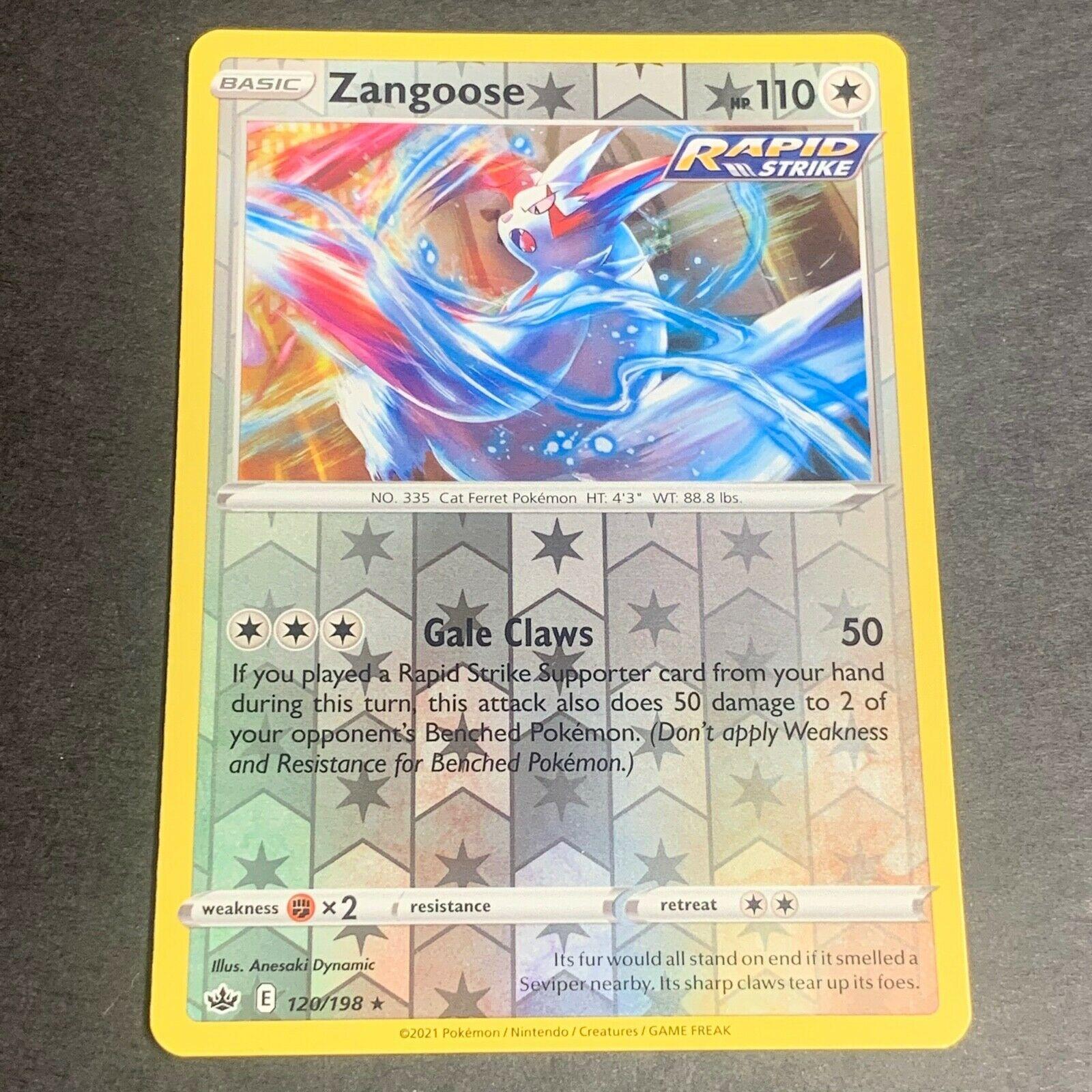 Pokemon S&S Chilling Reign REVERSE HOLO (R.) Zangoose 120/198 - Near Mint (NM)