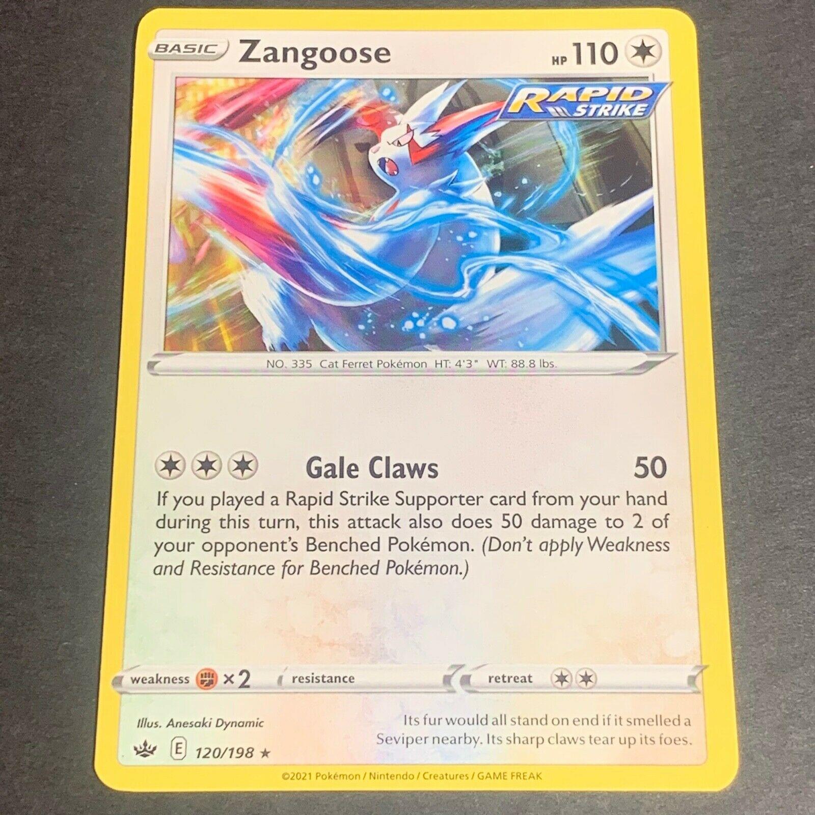 Pokemon S&S Chilling Reign Set RARE Zangoose 120/198 - Near Mint (NM) Condition