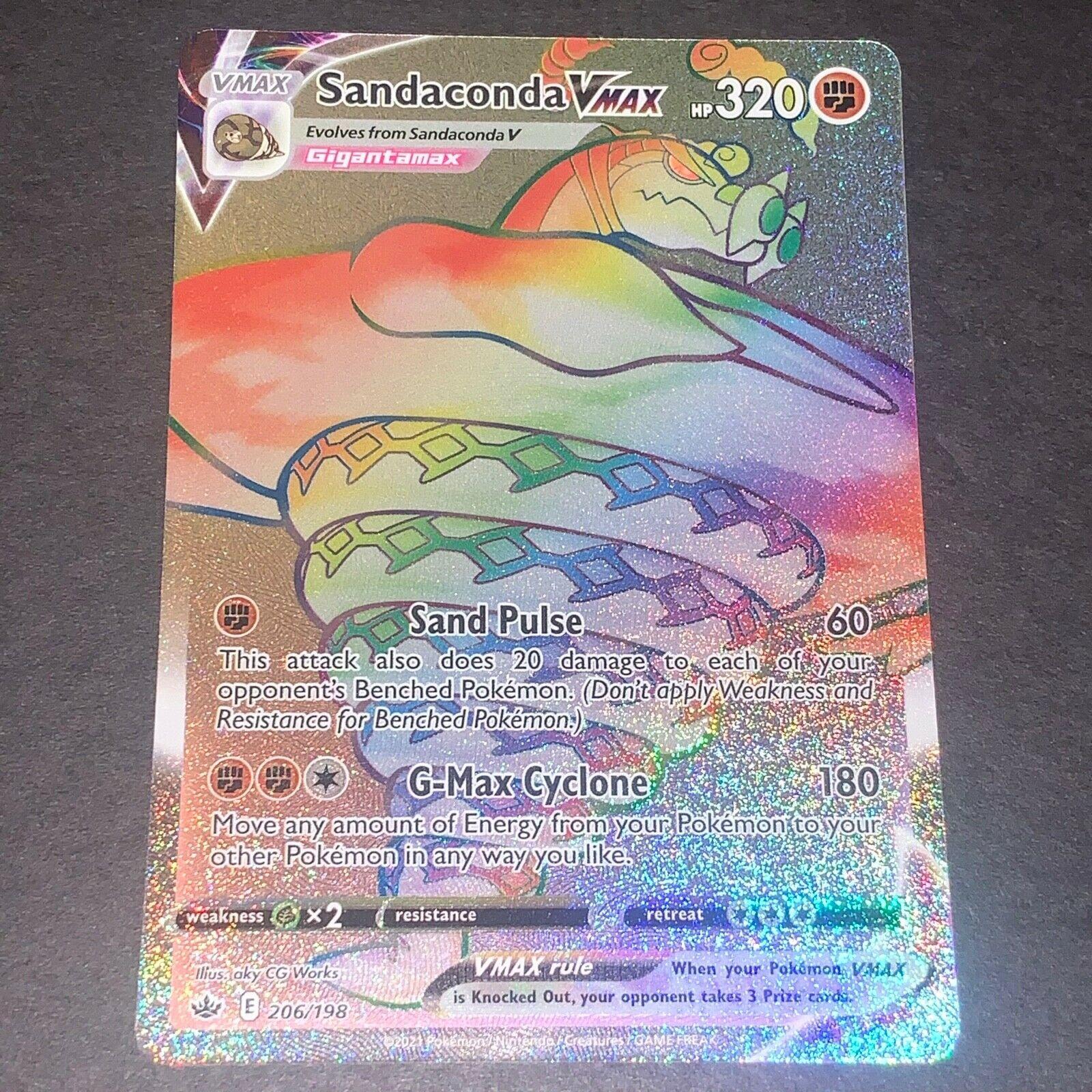 Pokemon S&S Chilling Reign HYPER RARE Sandaconda VMAX 206/198 - Near Mint (NM)