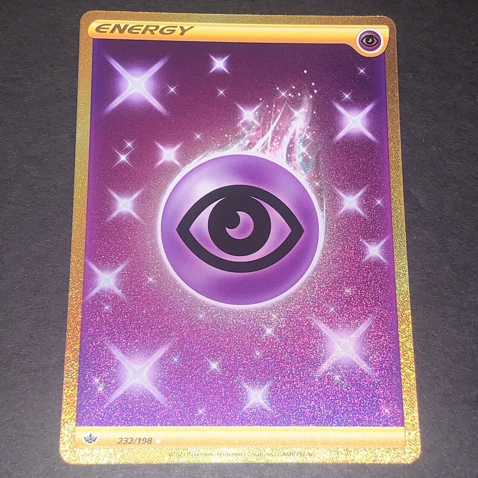 Pokemon S&S Chilling Reign SECRET RARE Psychic Energy 232/198 - Near Mint (NM)