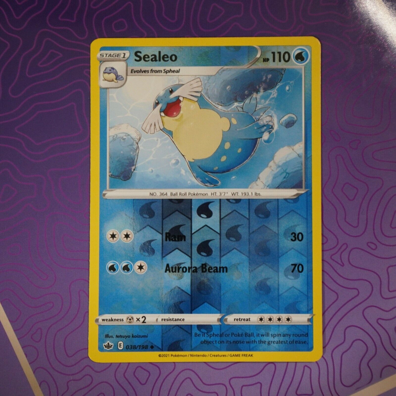 Sealeo 038/198 Reverse Holo | NM | Chilling Reign