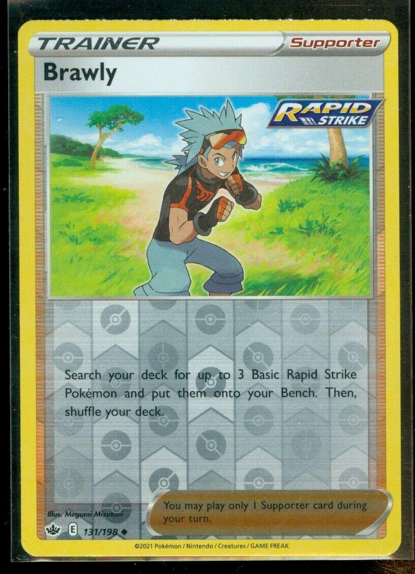 Pokemon BRAWLY 131/198 Chilling Reign - Rev Holo - MINT