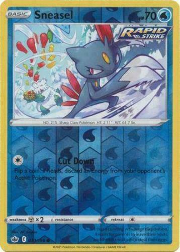 Pokemon - Sneasel 030/198 - Reverse Holo - Chilling Reign - NM/M