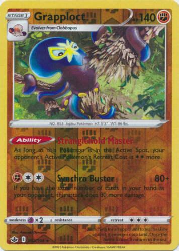 Pokemon - Grapploct - 092/198 - Reverse Holo Rare - Chilling Reign - NM/M