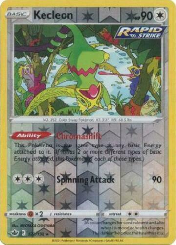 Pokemon - Kecleon - 122/198 - Reverse Holo Rare - Chilling Reign - NM/M