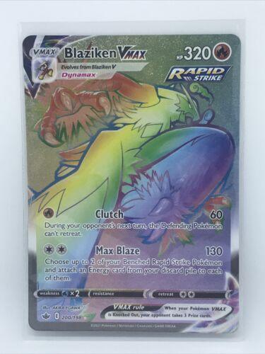 Blaziken VMAX Full Art 200/198 Chilling Reign Secret Rare Rainbow