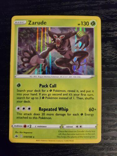 Zarude 019/198 Chilling Reign Holo Rare Pokemon Card NM