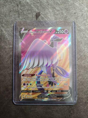 Pokemon Galarian Articuno V 169/198 Full Art Chilling Reign NM/Mint