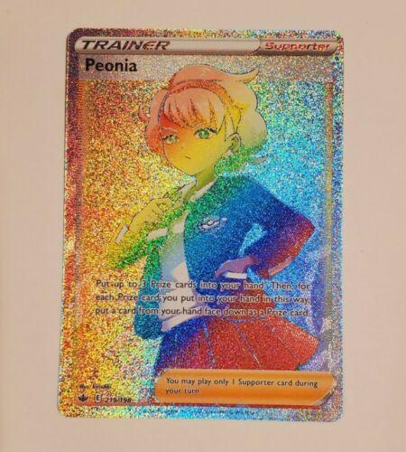 Pokemon Peonia Rainbow/Secret Rare - 219/198 - Chilling Reign - Near Mint