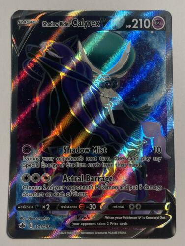 Pokemon SHADOW RIDER CALYREX V 171/198 Chilling Reign ULTRA RARE FULL ART - MINT