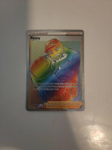 Pokemon Chilling Reign Peony Rainbow Secret Rare Full Art Trainer 220/198