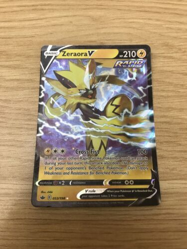 ZERAORA V 053/198 — mint/nm — Pokémon TCG Chilling Reign
