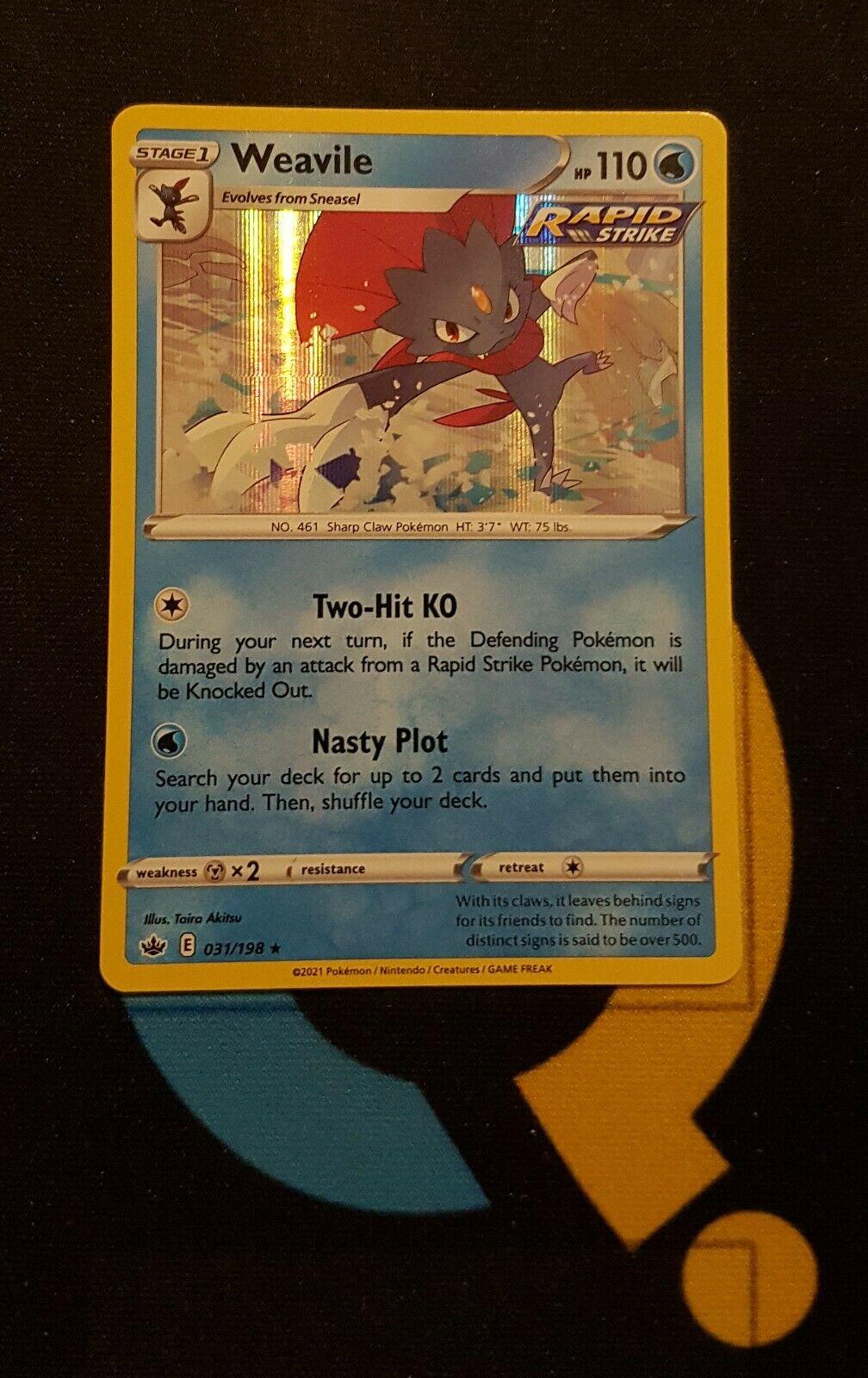 Weavile - 031/198 Chilling Reign - Rare Holo - Pokemon