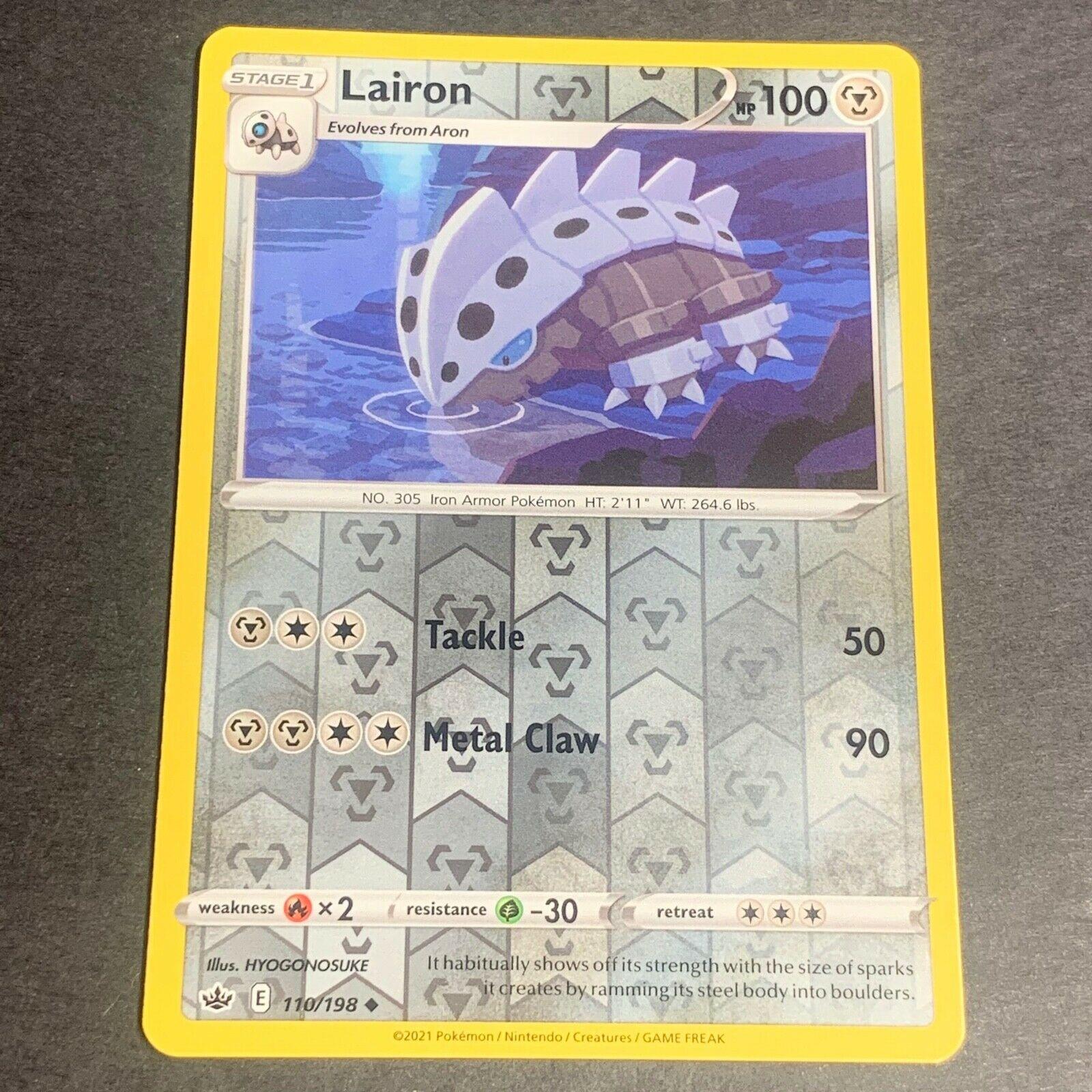 Pokemon S&S Chilling Reign REVERSE HOLO (Un.) Lairon 110/198 - Near Mint (NM)