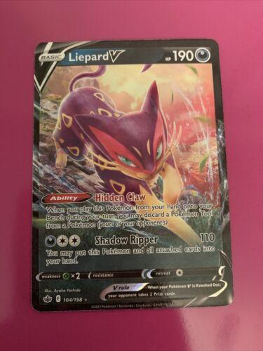 Liepard V 104/198 Full Art NM/M Chilling Reign Pokemon Card