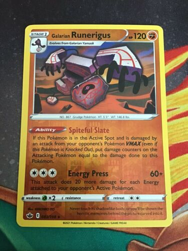 galarian runerigus 083/198 - Reverse Holo Rare - Chilling Reign
