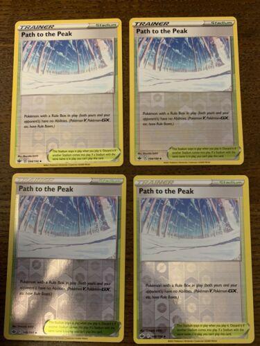 4x Pokemon Chilling Reign Path to the Peak Uncommon Reverse Holo 148/198 M/NM